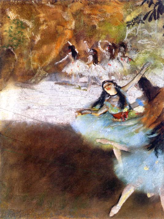Edgar Degas Ballet on the Stage stretched canvas art print