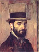 Edgar Degas Portrait of Leon Bonnat
