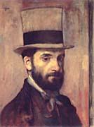 Edgar Degas Portrait of Leon Bonnat