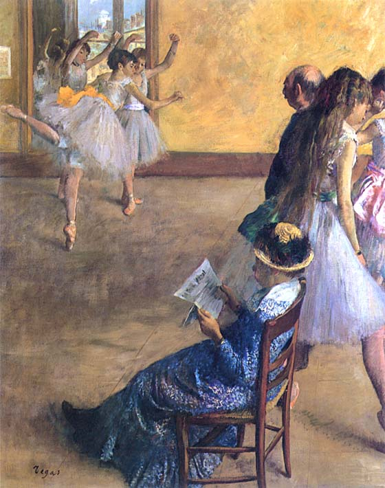 Edgar Degas The Ballet Class stretched canvas art print