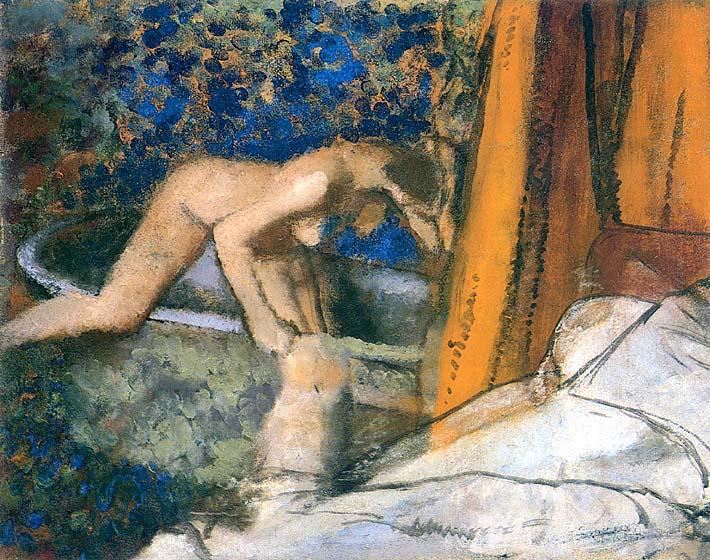 Edgar Degas The Bath, Impressionism stretched canvas art print