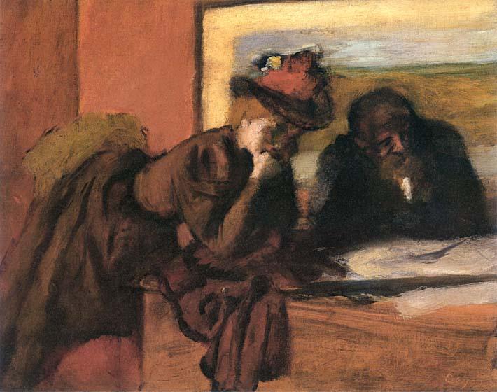 Edgar Degas The Conversation stretched canvas art print