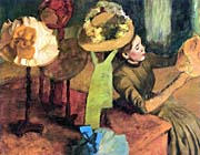 Edgar Degas The Millinery Shop