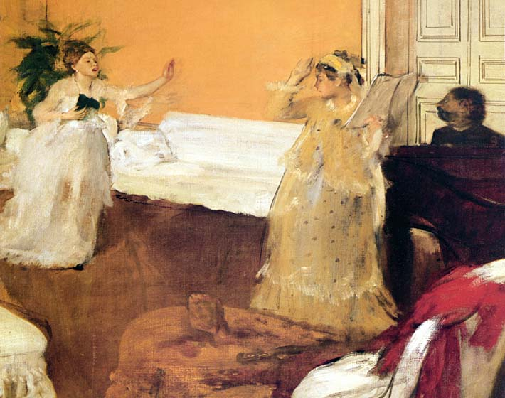 Edgar Degas The Song Rehearsal stretched canvas art print