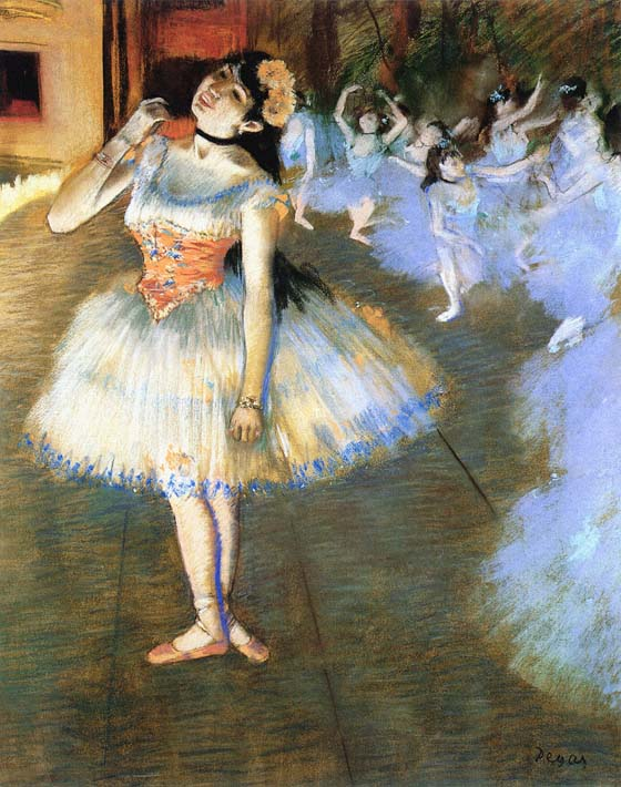 Edgar Degas The Star Impressionist Art stretched canvas art print