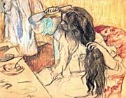 Edgar Degas Woman at Her Toilette