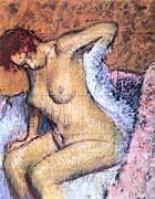 Edgar Degas Woman Sitting Drying Her Back