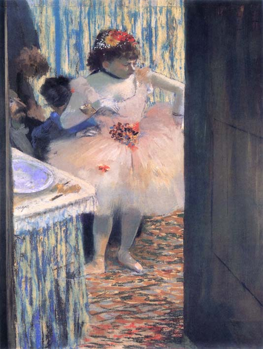 Edgar Degas Dancer in Her Dressing Room stretched canvas art print