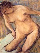 Edgar Degas Woman Drying Her Right Leg seen from the Front