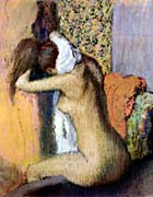 Edgar Degas After the Bath, Woman Drying Her Neck