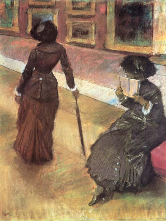 Edgar Degas Mary Cassatt at the Louvre stretched canvas art print