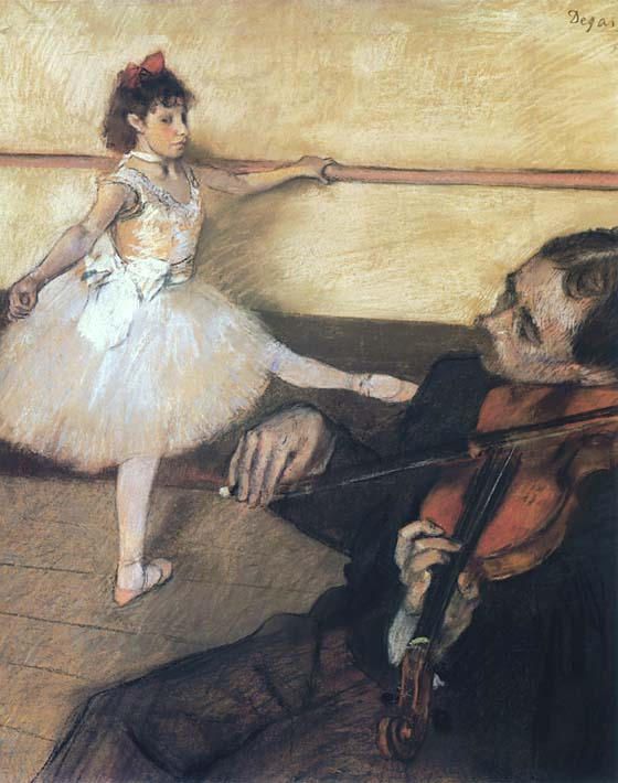 Edgar Degas The Dance Lesson stretched canvas art print