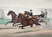 Currier and Ives A Close Heat