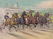 Currier and Ives A Dash for the Pole