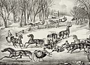 Currier and Ives A Spill Out on the Snow
