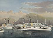 Currier and Ives American Steamboats on the Hudson River