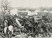 Currier And Ives Battle of Pittsburgh, Tennessee, April 7th 1862