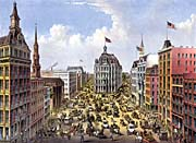 Currier And Ives Broadway, New York