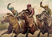 Currier and Ives A Driving Finish