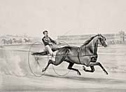 Currier And Ives Champion Trotting Stallion Smuggler