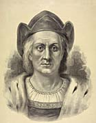 Currier And Ives Christopher Columbus, Discoverer of America