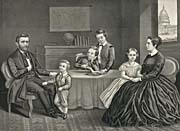 Currier And Ives Ulysses S. Grant and Family at Home