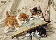 Henriette Ronner Knip Innocence of Kittens