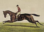 Currier and Ives Iroquois Thoroughbred Horse