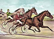 Currier and Ives Mascot Trotter Horse Races