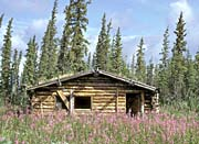 U S Fish And Wildlife Service Canyon Village Log Cabin canvas prints