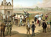 Currier And Ives Disputed Horse Racing Heat