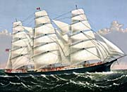 Currier And Ives Clipper Ship Three Brothers