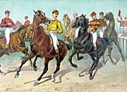 Currier and Ives Eager for the Horse Race