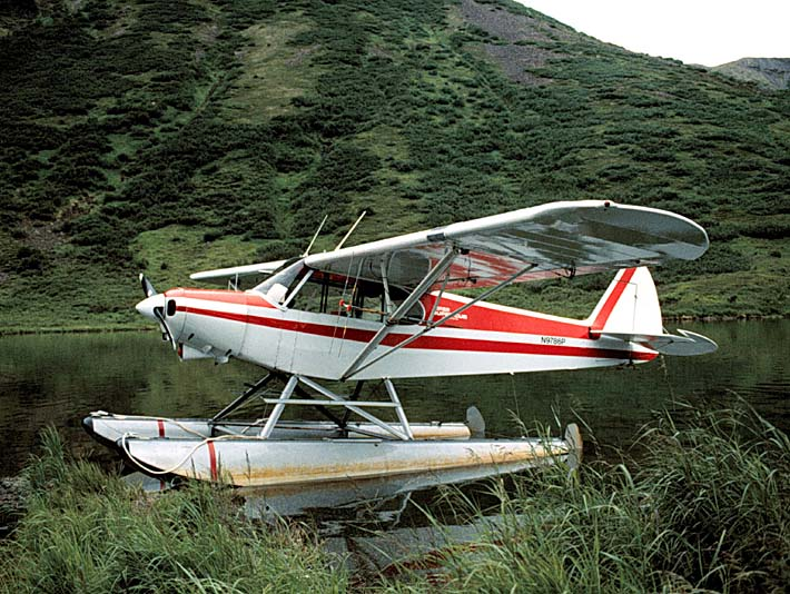 U S Fish and Wildlife Service Float Plane stretched canvas art print