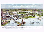 Currier and Ives Grand Birds-Eye View of Chicago Exposition
