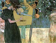 Gustav Klimt Music I canvas prints
