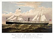 Currier And Ives Pacific Coast Steamship