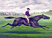 Currier And Ives Parole Horse Racing canvas prints