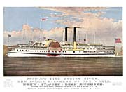 Currier And Ives People's Cruise Line Hudson River