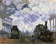 Claude Monet Gare Saint Lazare Arrival Of A Train canvas prints