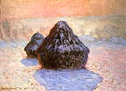 Claude Monet Haystacks, Snow Effect Winter