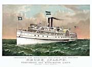 Currier And Ives Rhode Island Steamship