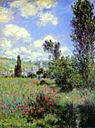 Claude Monet Path In The Ile Saint Martin Vetheuil canvas prints