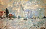 Claude Monet Regattas At Argenteuil 1874
