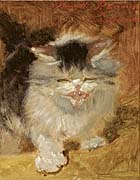 Henriette Ronner Knip An Angry Little Kitten