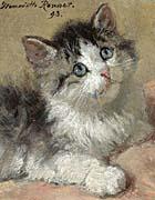 Henriette Ronner Knip An Inquisitive Kitten