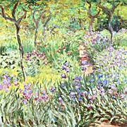 Claude Monet Claude Monets Iris Garden At Giverny canvas prints