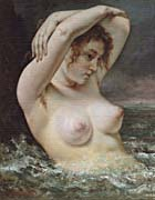 Gustave Courbet Woman In The Waves