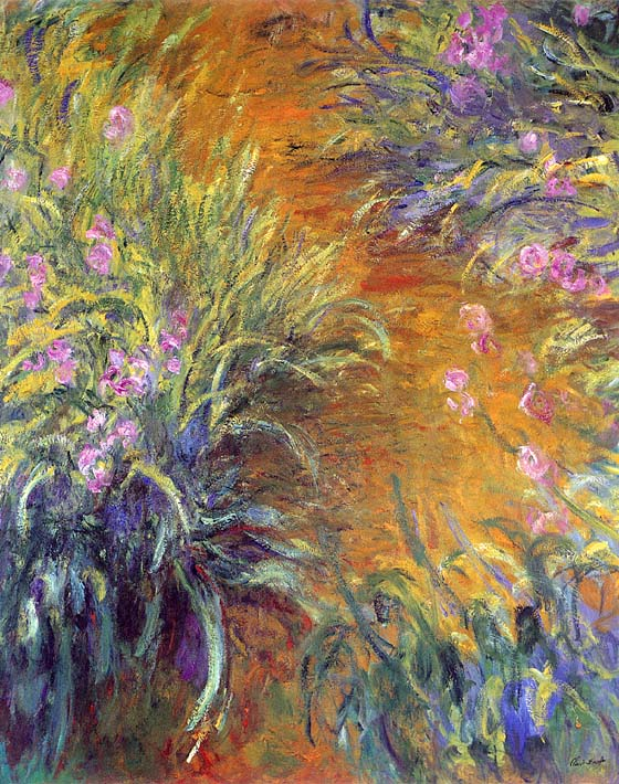 Claude Monet The Path Through the Irises stretched canvas art print