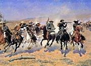Frederic Remington A Dash For The Timber (detail)